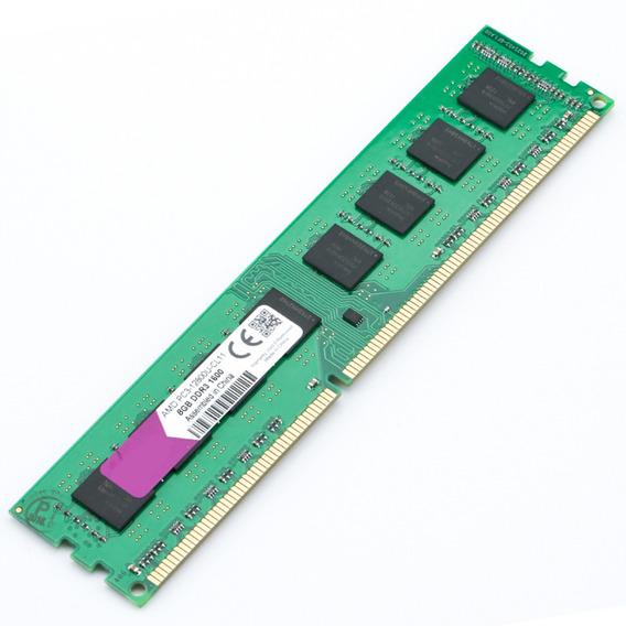 Memória Ram Ddr3 8gb 1600mhz Desktop 240pinos 1,5v Para Amd