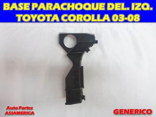 Base Parachoque Delantera Izquierda Toyota Corolla 03 05 08