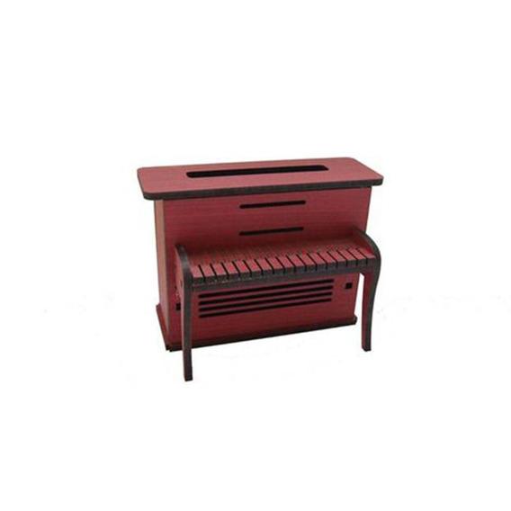 Piano Vintage Deco Vermelho Madeira