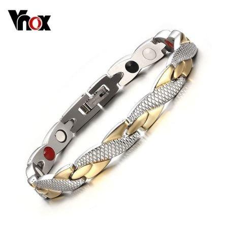 Pulseira Aço Inox Magnética Bracelete