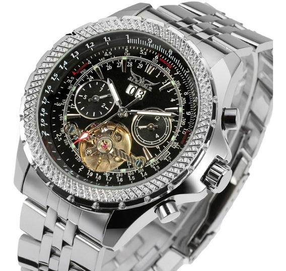 Relógio Jaragar Automático Marca De Luxo