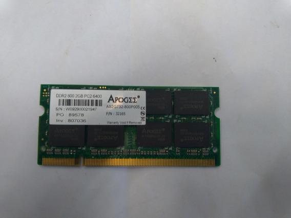 Memória Notebook Ddr2 2gb 800 Mhz Pc2 6400 Frete Grátis
