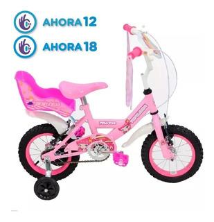 Bicicleta Top Mega R12 Princess Bmx Nena Niña Rosa Full Fas!