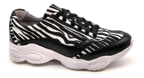 Tênis Dad Chunky Sneaker Feminina Bm Brasil 251 Zebra