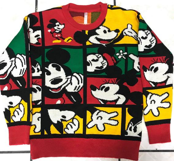 Suéter Tejido Mickey Y Minnie