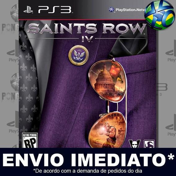 Saints Row Iv 4 Ps3 Psn Jogo Promoção Pronta Entrega Play 3