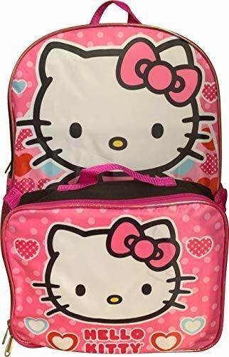 Hello Kitty Mochila Rosa 16 Grande Con Bolsa De Almuerzo Ext