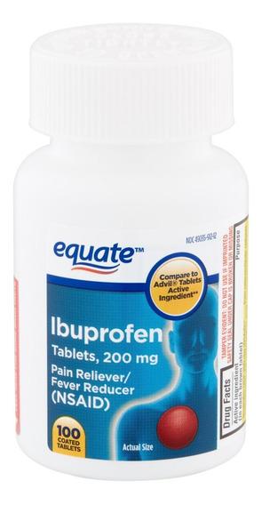 Medicamento Ibuprofeno 200mg 100 Tabletas