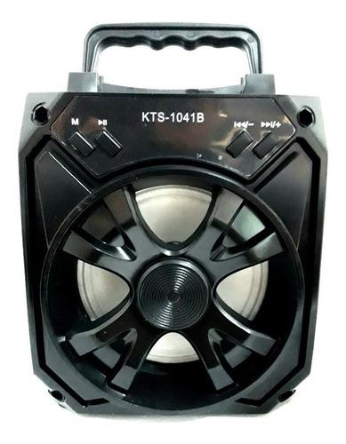 Caixa De Som Portatil Com Bluetooth Kts-1041b- Cor Preta