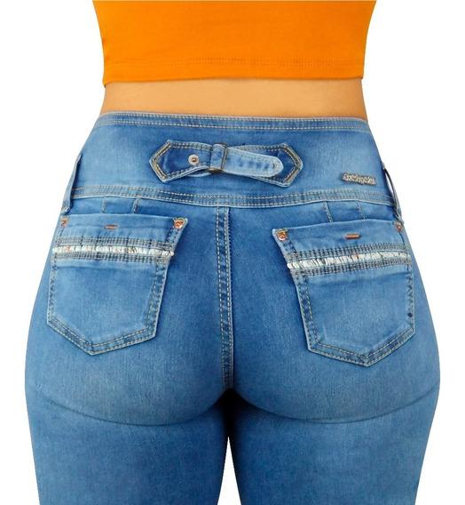 Jeans Dama Pantalones Mujer Colombiano Pompa Maxi Push Up