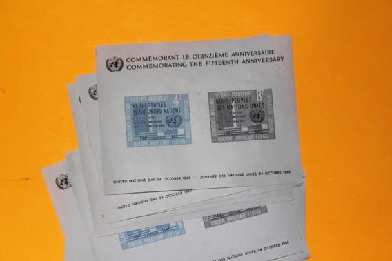 Naciones Unidas. Lote 25 Bloques X 50 Aniversario 24 Oct1960