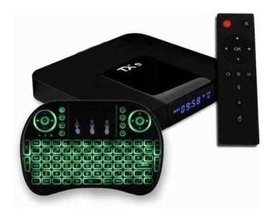 Conversor Smart Tv Box Tx9 + Mini Teclado Com Led ( Brinde )