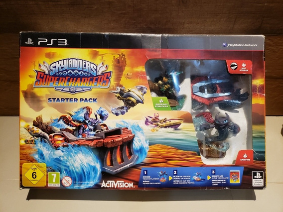 Skylanders Superchargers Ps3 Starter Pack Completo Na Caixa