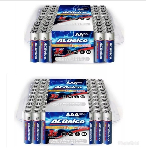 Pilas Aa Aaa Acdelco Super Alcalinas Baterias