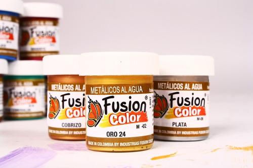 Imagen 1 de 2 de 6 Pinturas Metalizadas X 30 Cc Fusion Color