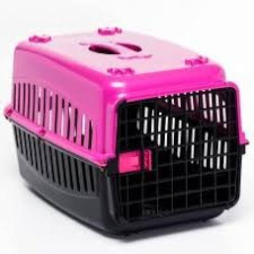 Caixa De Transporte Rosa Cachorro Gatos Coelho Cão  Nº3