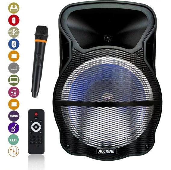 Caixa De Som Amplificada Cam 800 Bt Com Microfone Usb Auxiliar Frete Grátis