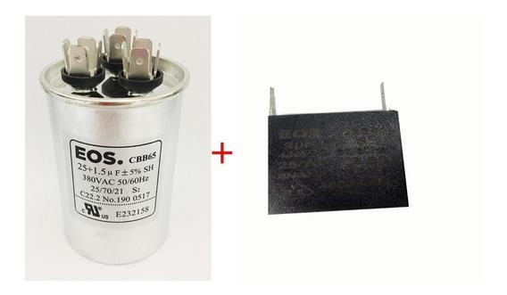 Capacitor Duplo Ar Condicionado 25+1,5uf 380v + Cap 2 Vent