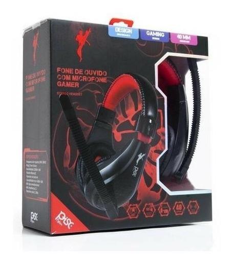 Fone De Ouvido Gamer Headset Com Microfone P2 Flexível Pisc