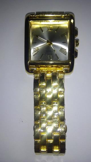 Relógio Quartz Masculino Dourado