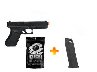 Pistola De Airsoft À Gás Gbb G17 6mm + Carregador + Bb
