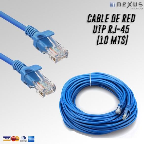 Cable De Red Utp Rj45 Cat 5e (10 Mts)