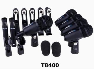 Kit De 7 Micrófonos Para Batería Alctron T8400