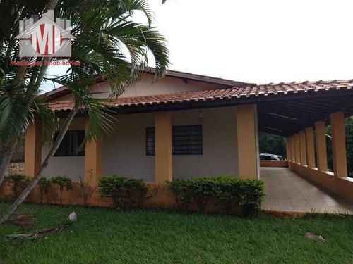 Ótima Chácara Com 3 Dormitórios, Pomar, Área Gourmet, Perto Da Cidade, À Venda, 1500 M² Por R$ 380.000 - Rural - Socorro/sp - Ch0886