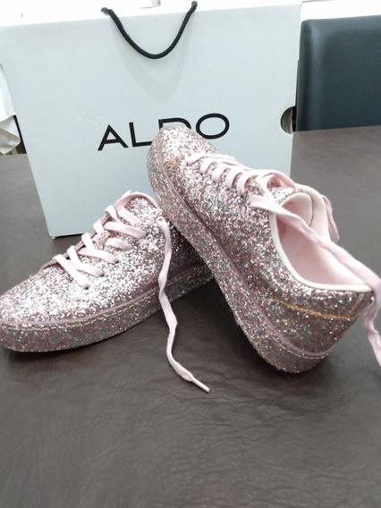 Zapatillas Mujer Brillosas Aldo 15 Años Importadas Glitter