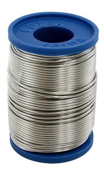 Solda Cobix 250 Gramas 60x40 1,0mm Azul Estanho