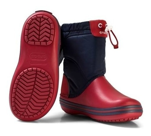 Botas De Lluvia Niños Crocband Lodgepoint Boot Navy Red