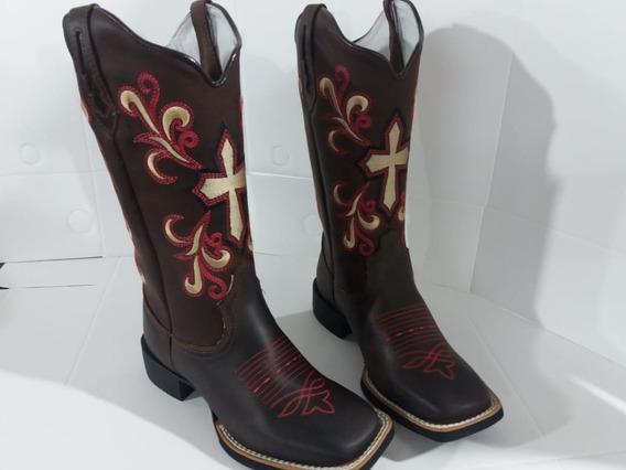 Bota Country Texana Cano Longo