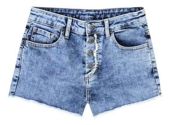 Shorts Jeans Feminino Com Detalhe Desfiado Hering
