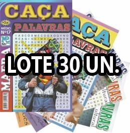 Lote 30 Revistas Caça Palavra Palavras Passatempo Atividade