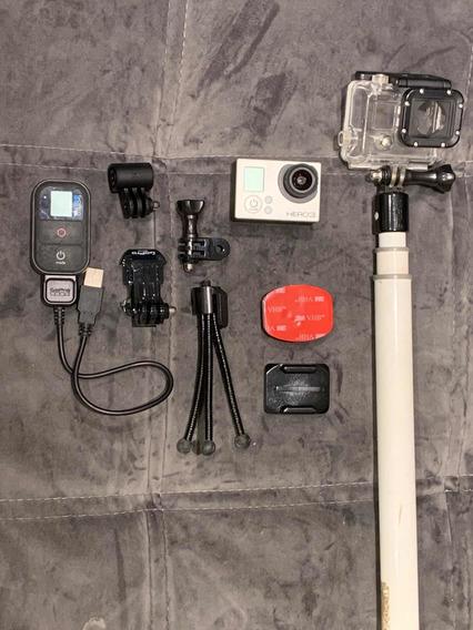 Câmera Gopro Hero3 Silver Com Acessórios