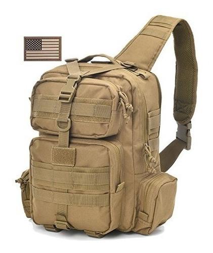 Imagen 1 de 9 de Táctica Militar Sling Bag Pack Rover Hombro Mochila Molle B