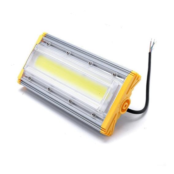 Refletor 50w Linear Project-light Led Branco Frio Luz Galpão