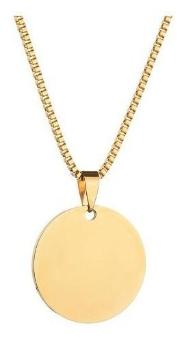 Collar Circulo Liso 2cm Acero Inoxidable Valbar