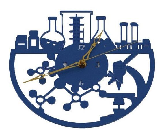 Reloj De Pared Quimica Ciencia Bioquimica Analógico 20cm