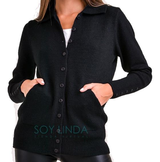 Cárdigan De Lana Sweater Con Botones Moda 2020
