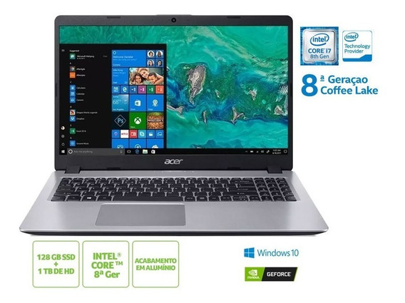 Notebook Acer I7 8565u 8gb 128 Ssd 1tb Hd Mx130 Win10 15.6