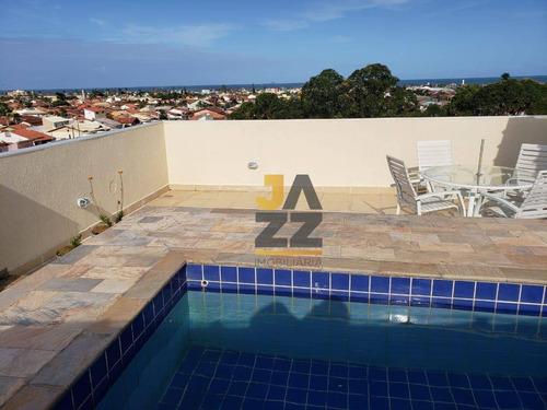 Cobertura Duplex Com 3 Dormitórios À Venda, 125 M² Por R$ 500.000 - Centro - Peruíbe/sp - Ap4870
