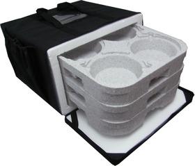 Mochila Bolsa Para Entrega 12 Marmitex De Alumínio 8 E 9