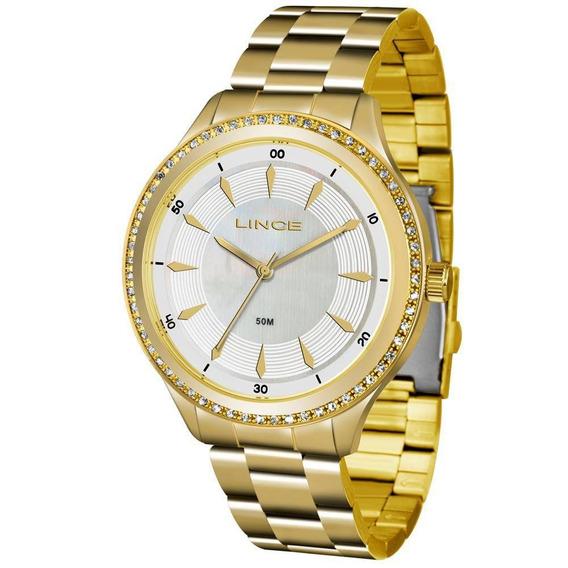 Relógio Lince Lrg4427l-b1kx Dourado Perolado