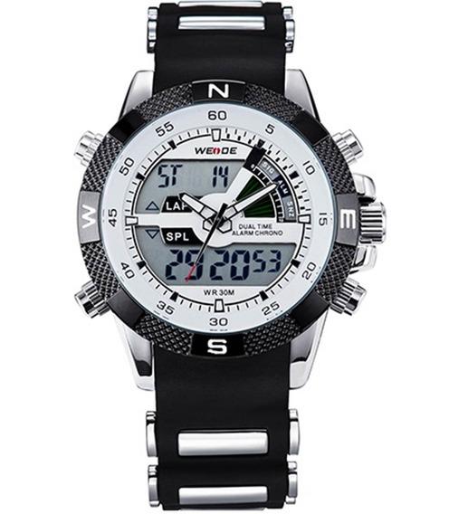 Relógio Masculino Weide Invicta Aço Inox + Caixa