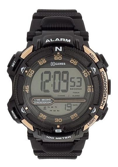 Relógio X-games Xmppd316 Bxpx Preto Com Dourado