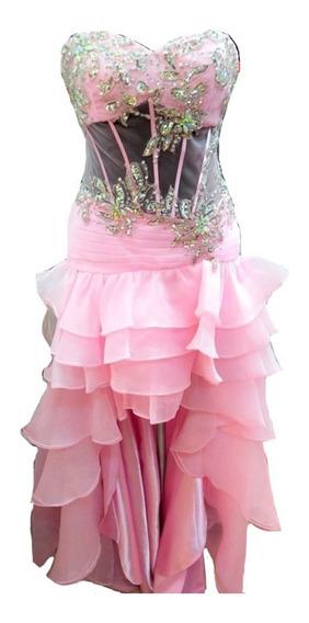 Vestidos De 15 Corset Tul Bordado Talle M Sabah Desing