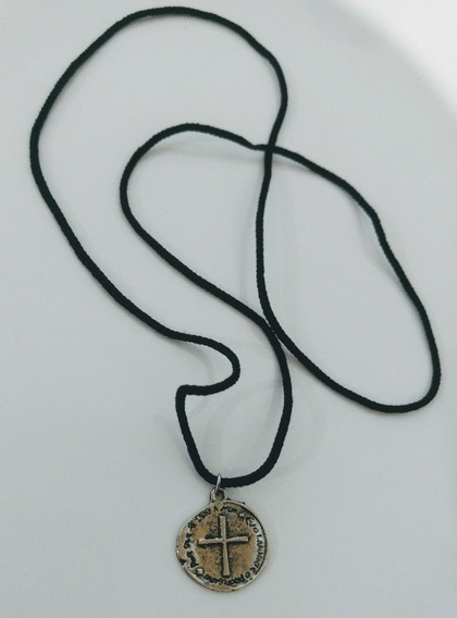 2 Colar Cordão Medalha Das Duas Cruzes