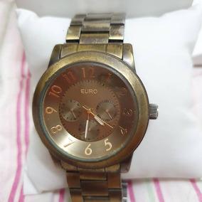 Relógio Euro Original Com Nota Fiscal Semi Novo