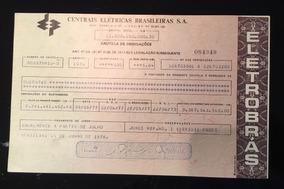 Apólice Cautela De 200 Obrigações Eletrobrás Emissão 1976
